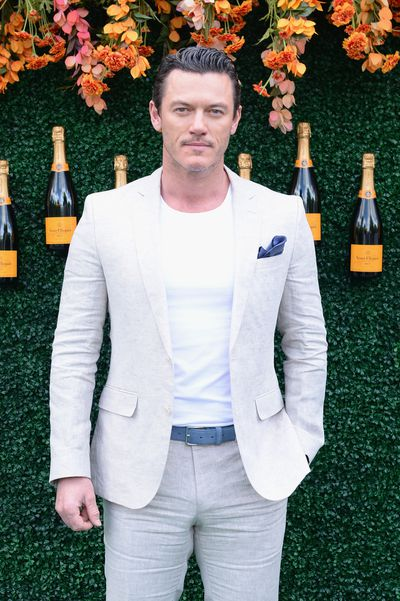 <em>Beauty and the Beast</em> actor Luke Evans at the Veuve Clicquot Polo Classic in New York.