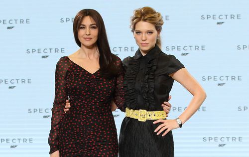Bond Girls Monica Bellucci and Lea Seydoux. (Getty)