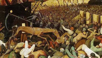 Pieter Bruegel the Elder's The Triumph of Death depicted the mass deaths caused by the bubonic plague.