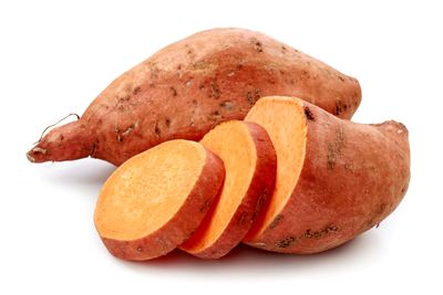 Sweet potato with the skin on