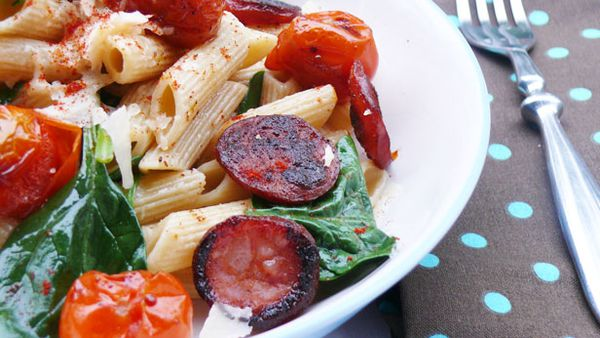 Addictive chorizo, roast tomato and smoked paprika penne