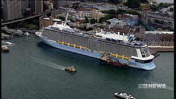 Circular Quay hosts Australia's biggest cruise ship