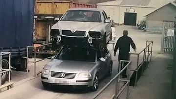 Welshman drives with car on top of his car