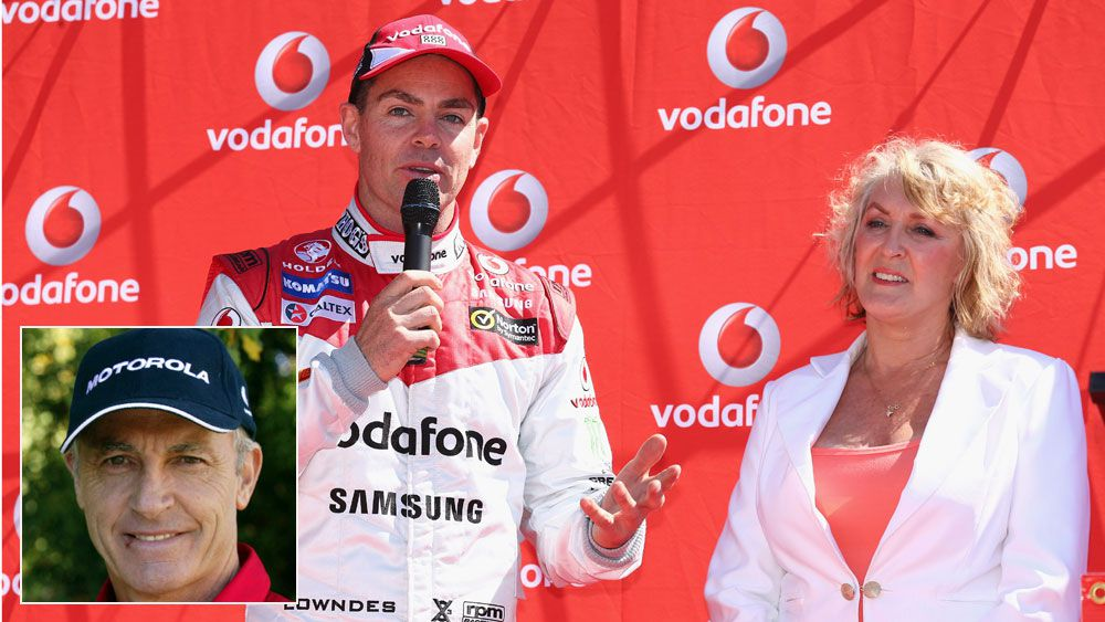 Craig Lowndes with Bev Brock and (inset) Peter Brock. (Getty and AAP)