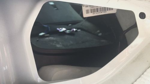 Inside the boot where she was found.