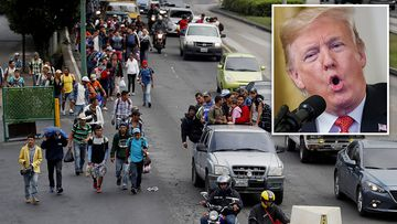 US President Donald Trump has threatened to close the US-Mexico border if authorities there fail to stop the passage of an impromptu caravan of about 3000 Hondurans.