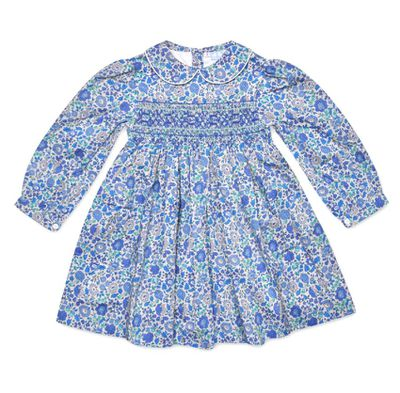 "<a href=""https://www.coucoubaby.com.au/products/grace-blue-liberty-print-smock-dress"" target=""_blank"" title=""Cou Cou Grace BlueLiberty Print Smock Dress"" draggable=""false"">Cou Cou Grace Blue Liberty Print Smock Dress</a>, $74.95<br />"