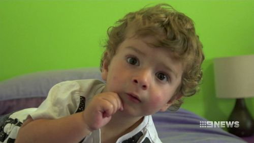 Matt might only be two, but already he's drumming like a super star. (9NEWS)