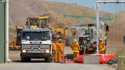 Total fire bans have also been issued for 10 of South Australia's 15 districts - including the Adelaide metropolitan area. Picture: AAP.
