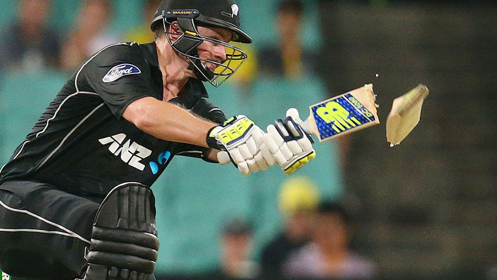 Black Caps suffer snaps bat in half during loss to Australia