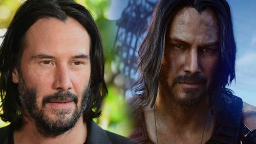 Keanu Reeves plays the character Johnny Silverhand, a hot-headed rockstar.