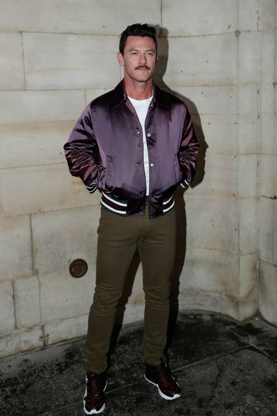 Actor Luke Evans attends the Louis Vuitton show as part of the Paris Fashion Week