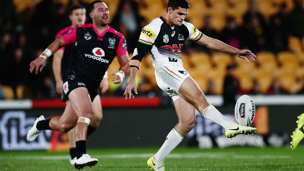 NRL: Penrith Panthers halfback Nathan Cleary turns on the magic against NZ Warriors