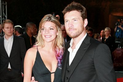 Sam is pictured here with his Aussie girlfriend, former bartender Crystal Humphries.