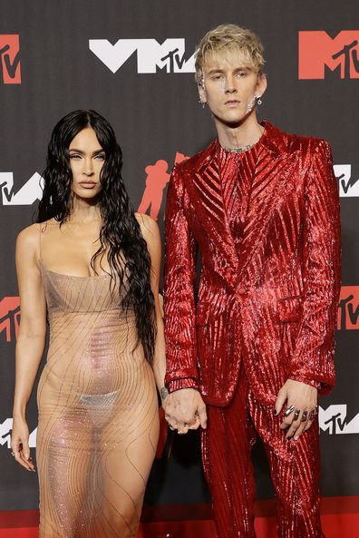 Megan Fox and Machine Gun Kelly attend the 2021 MTV Video Music Awards at Barclays Center on September 12, 2021 in the Brooklyn borough of New York City.