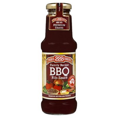 <strong>Three Threes Rib BBQ Sauce (37.3 grams of sugar per 100ml)</strong>