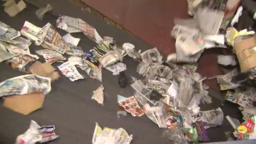 The Greens part want $500 million from states across the nation to combat the recycling problem. (9NEWS)