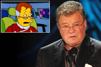 DVD commentaries for the first season of <i>The Simpsons</i> dub Shat the first person to reject the show. He was approached to star in an early episode — possibly the 1992 instalment 'Itchy and Scratchy: The Movie', which featured the spoof <i>Star Trek XII: So Very Tired</i>.