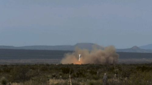 A controlled landing on solid ground. (Blue Origin)
