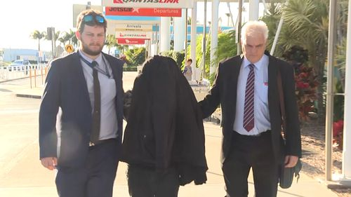 A Sydney man was extradited to Queensland yesterday, charged with 46 counts of child exploitation. Picture: 9NEWS.