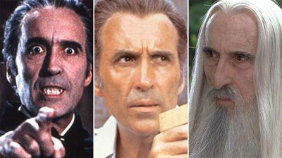 Christoper Lee in Dracula, The Man with the Golden Gun and Lord of the Rings.