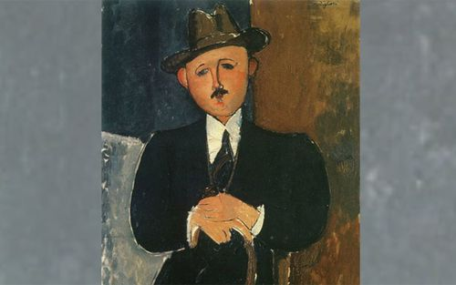 Seated Man with a Cane, painted by Italian artist Amadeo Modigliani in 1918. Source: Supplied
