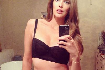 And although she's ticking all those couture boxes, she still doesn't mind a sneaky selfie in her bra and undies...