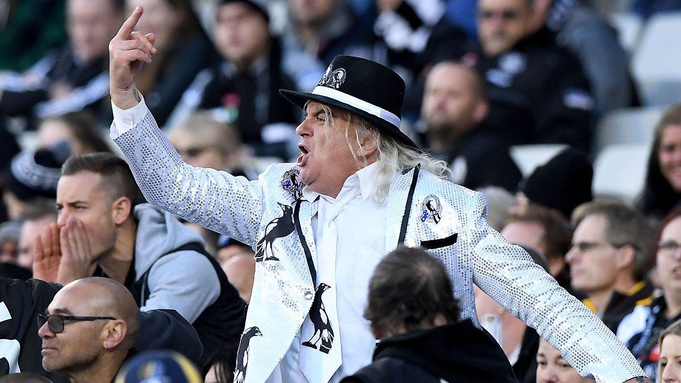 Collingwood cheer squad leader 'Joffa' Corfe threatens to organise mass boycott of AFL matches