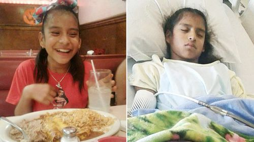 Rosamaria has cerebral palsy and was transferring to a hospital in another city for emergency surgery when she was approached by immigration agents. (Supplied)