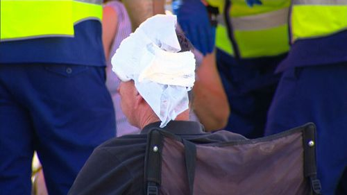 One passenger suffered a head laceration in the collision. (9NEWS)