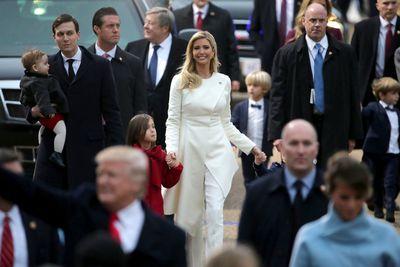 Ivanka Trump in Carolina Herrera at the Inaugural Parade in Washington, in January, 2017