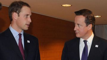Prince William and David Cameron during their campaign to host the World Cup.