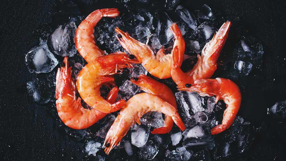 Christmas prawns