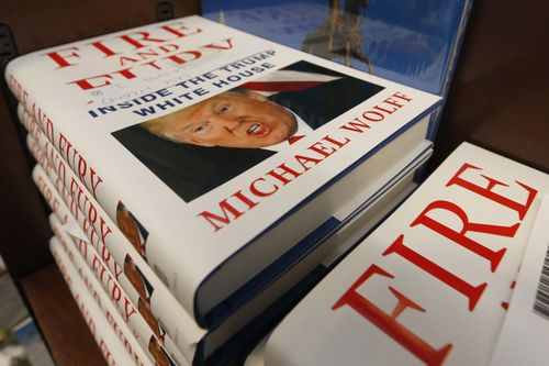 Michael Wolff's new take on life inside the Trump Presidency has flown off bookshelves in its first week of sales (AAP).