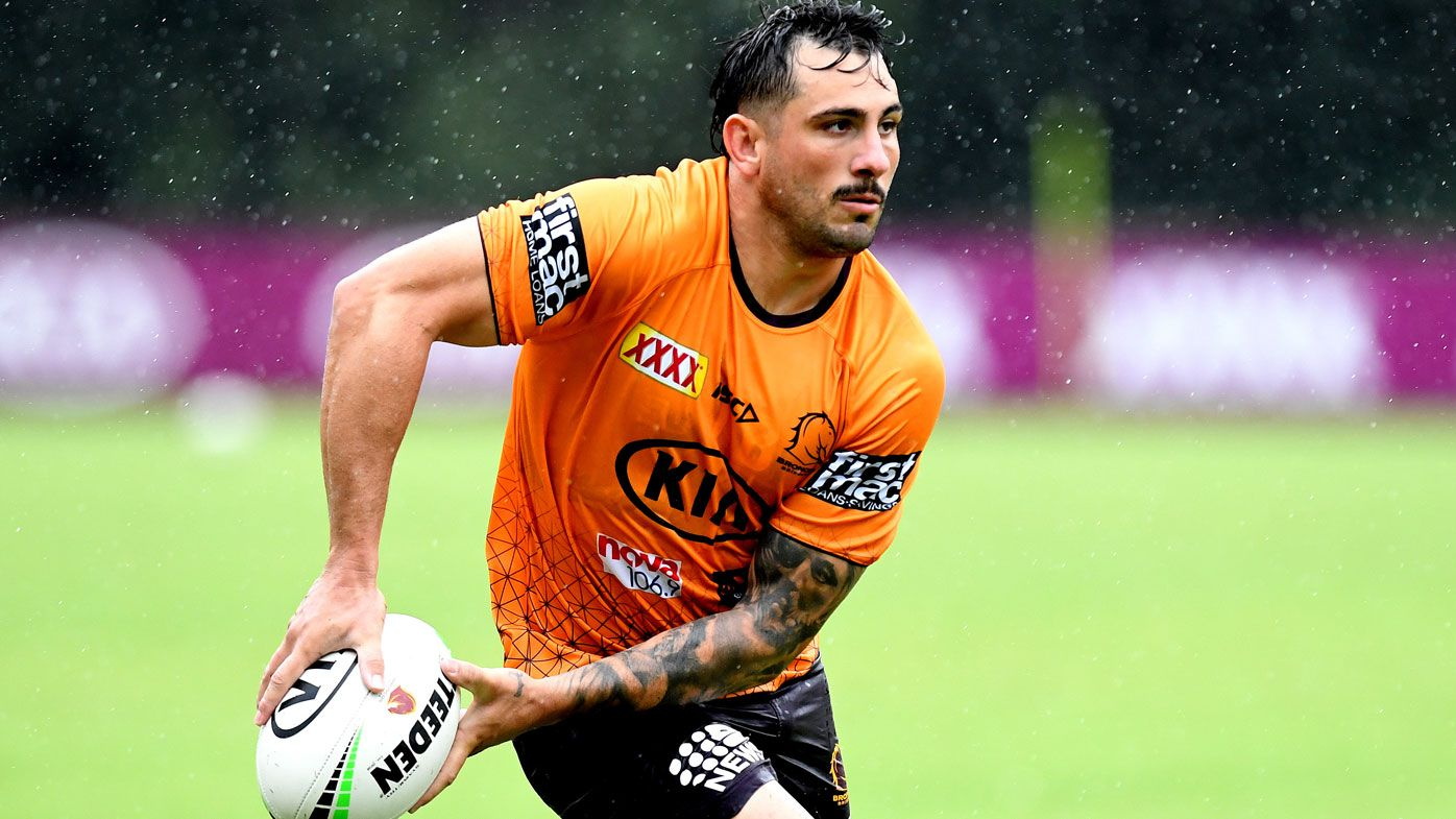 Jack Bird in action during a Brisbane Broncos NRL training session