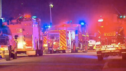 The 69-year-old man and his great-grandson were rushed to hospital after a fire in Perth's south-east. Picture: 9NEWS