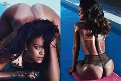 Funnily enough, these <i>Lui </i>snaps landed RiRi in hot water with Instagram after she posted them!<br/><br/>Images: Mario Sorrenti/Lui