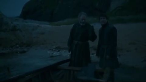 Ser Davos saves Gendry in GoT season three