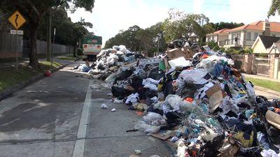 Rubbish left on a suburban street. (9NEWS)