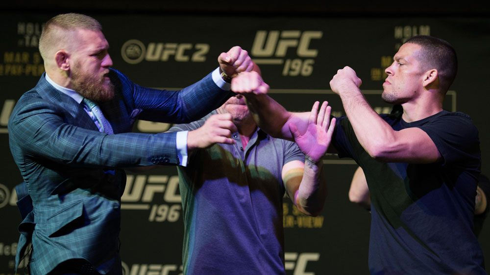 McGregor, Diaz start all-in brawl at UFC face-off