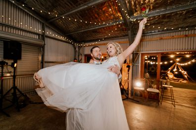 Couple wins wedding day at charity auction for Camp Quality