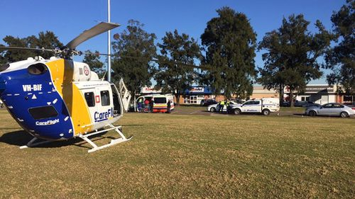 A six-year-old girl is in a critical condition after a playground accident in Sydney's west. (Careflight)