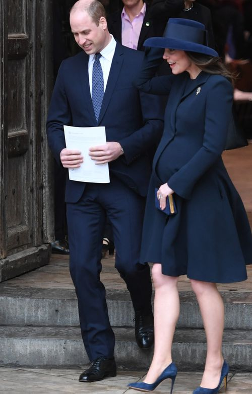 The Duchess of Cambridge suffered from severe morning sickness during all three of her pregnancies. (PA/AAP)