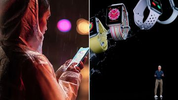 Apple unveils new waterproof iPhones and heartbeat detecting watch