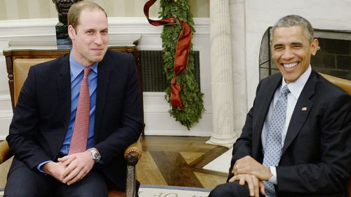 Prince William meets President Obama in Oval Office