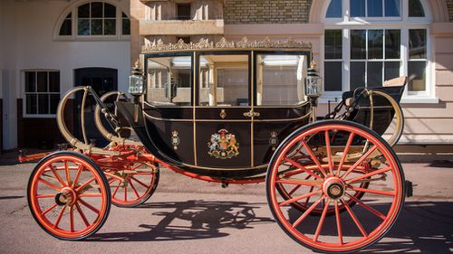 If it rains, Harry and Meghan will travel in the Scottish State Coach. (PA/AAP)