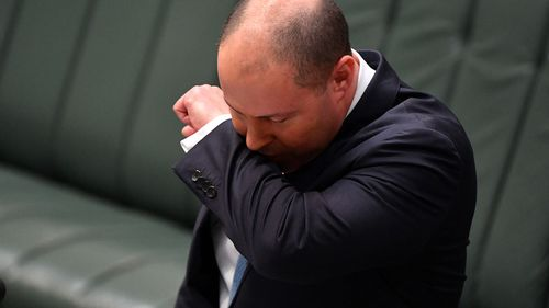 Treasurer Josh Frydenberg suffered a coughing fit in the middle of his economic update to parliament.