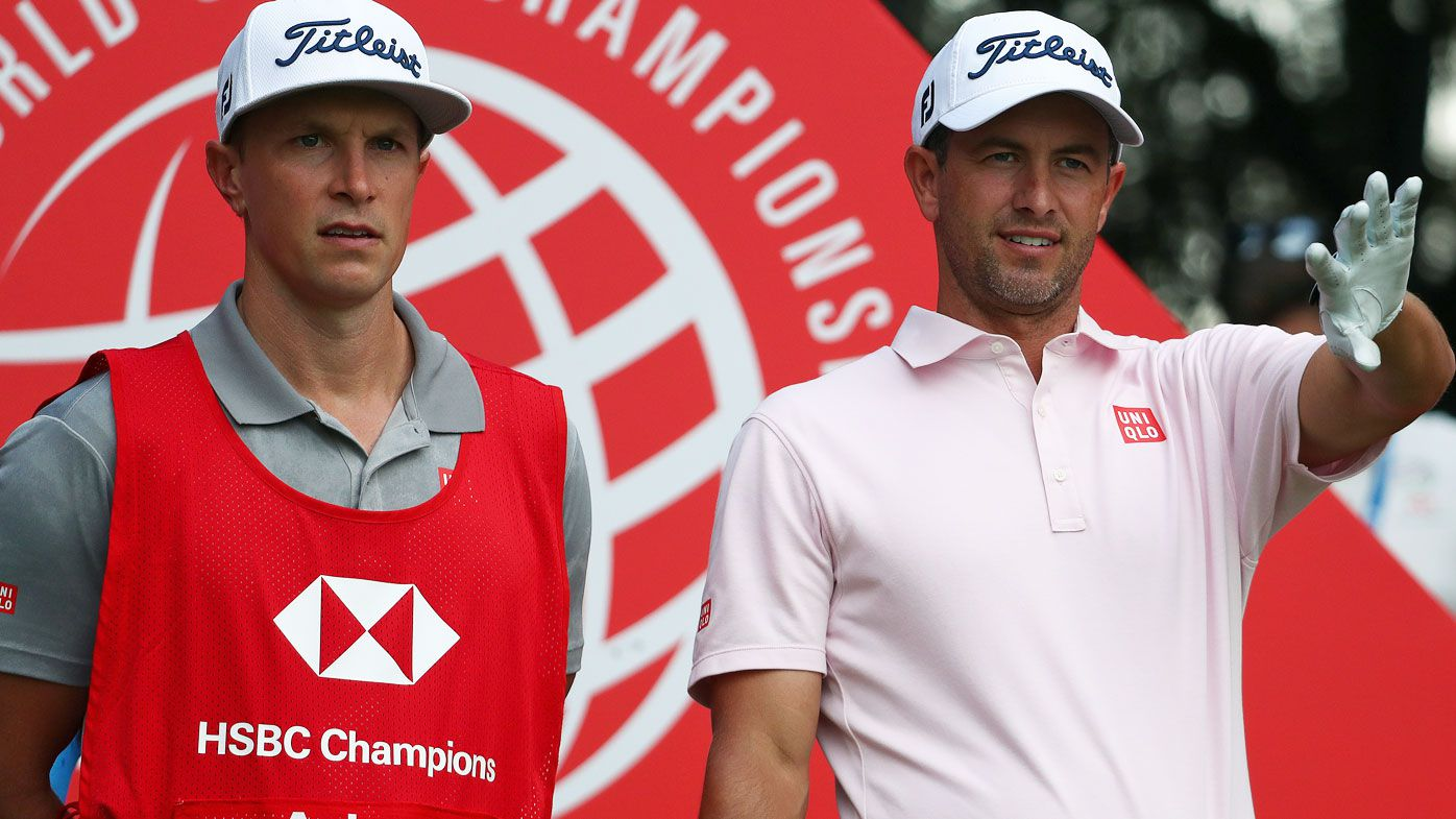 Adam Scott at the WGC HSBC Champions