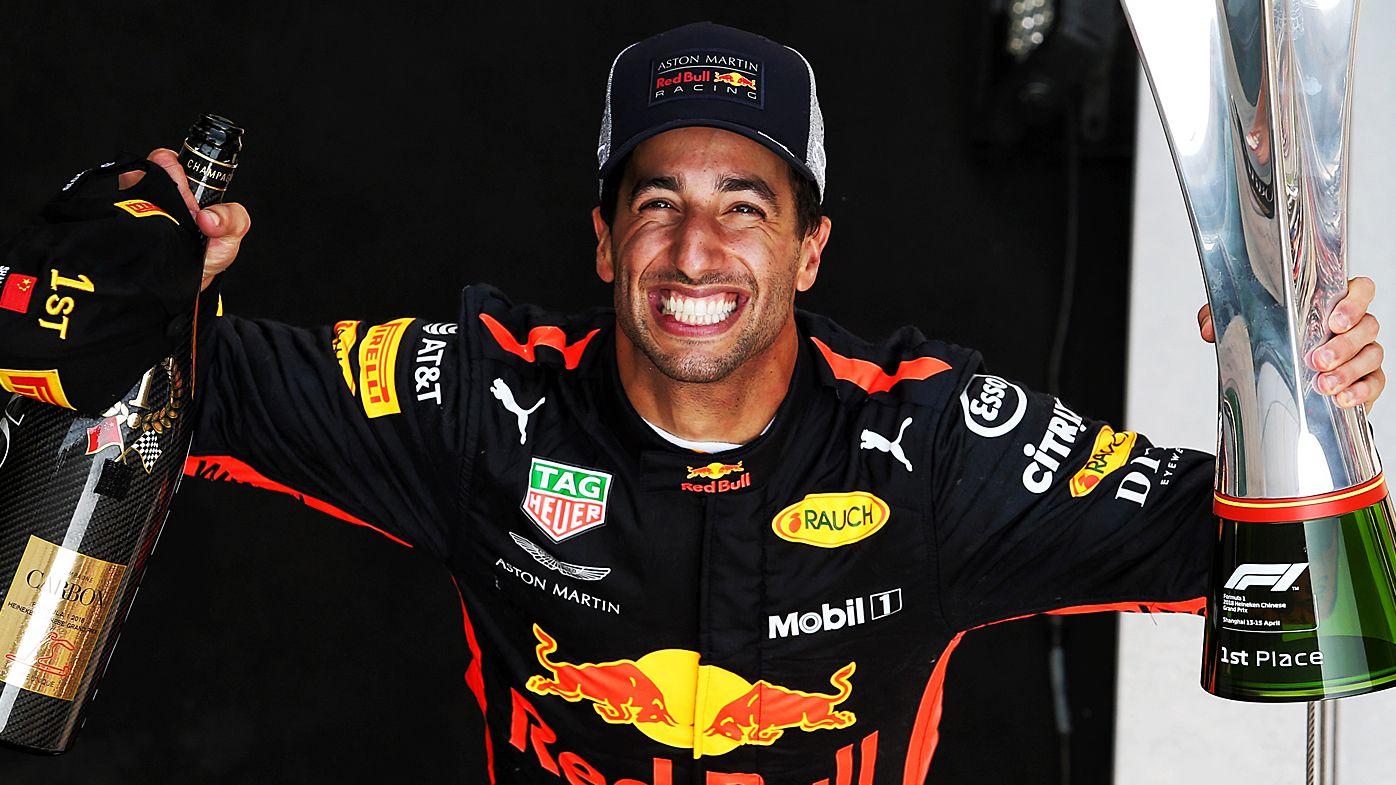 F1: Shoey in Shanghai for victorious Daniel Ricciardo