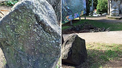 'Lois rock': Nimbin locals have created a memorial in Nimbin Park to remember their friend, Lois Roberts.